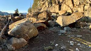 A Large Rockslide Near Tahoe Causes Highway 50 to Close